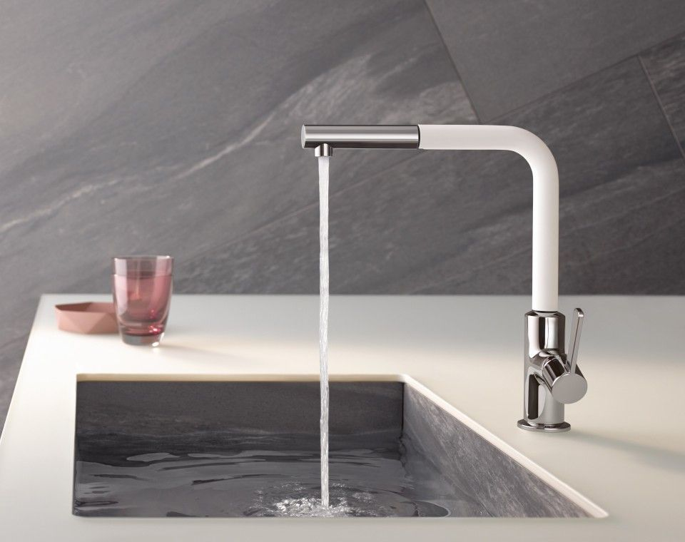 The save shank fixing ensures the stable installation on any surface quality features that distinguish a premium range of mixer taps like kludi l ine s