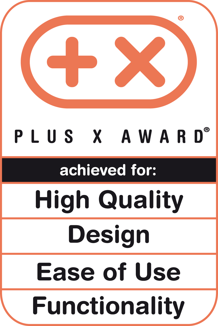 Plus X Award 2012 (High Quality, Design, Bedienkomfort, Funktionalität)