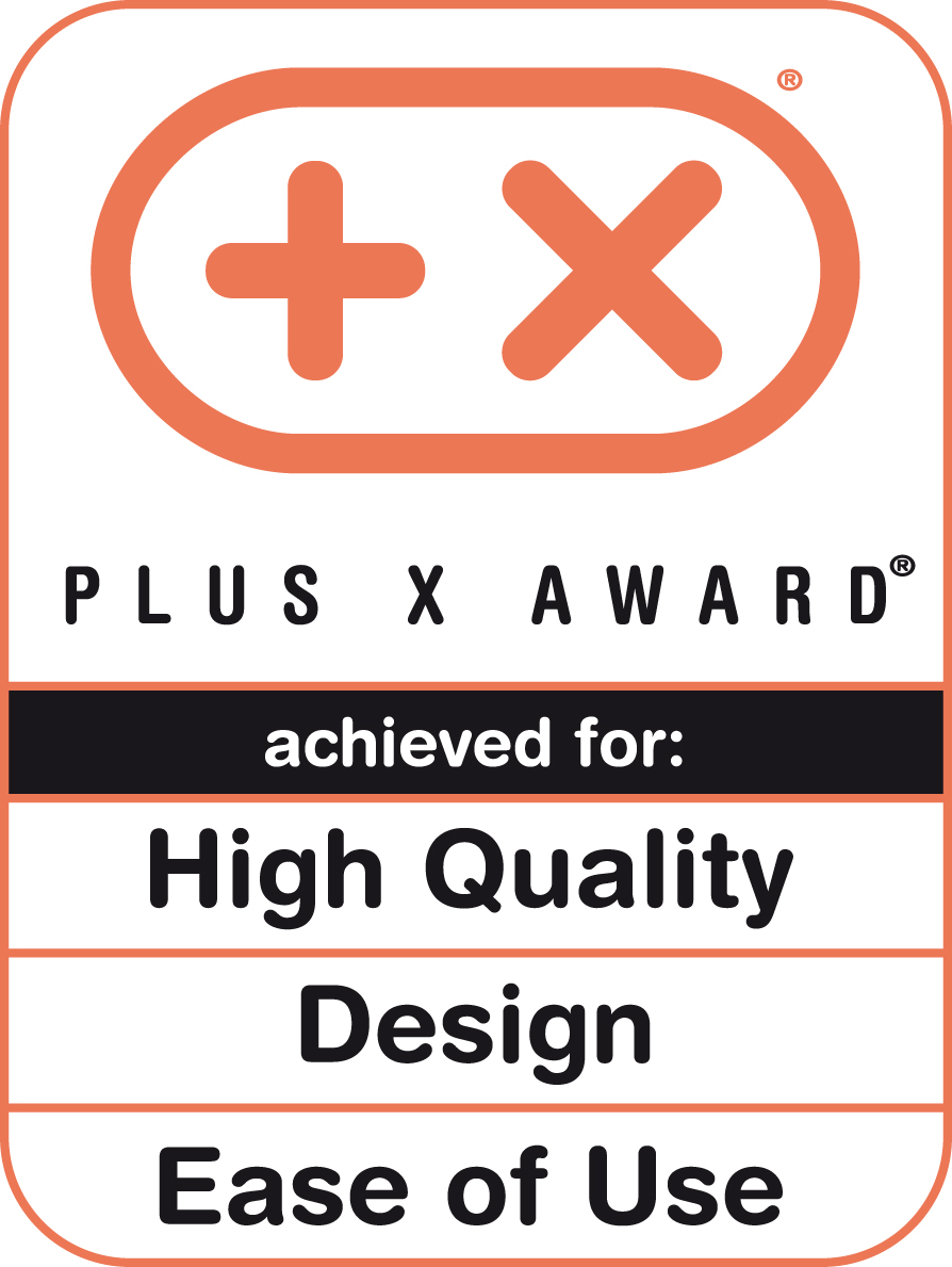 Plus X Award 2013 (High Quality, Design, Bedienkomfort)
