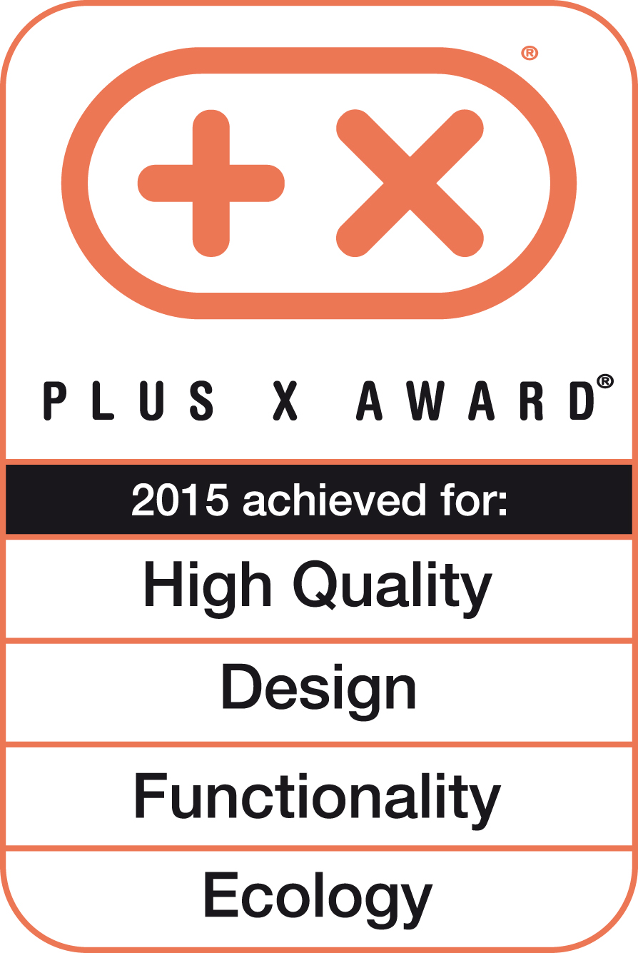 Plus X Award 2015 (High Quality, Design, Funktionalität, Ökologie)