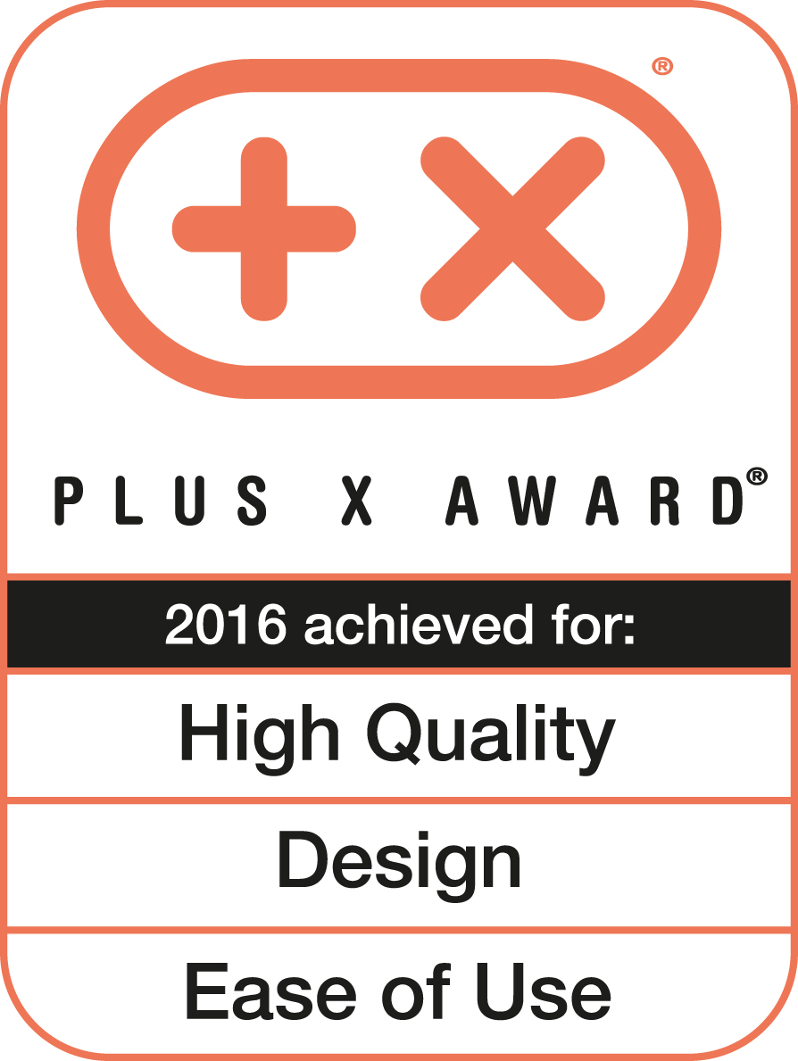 Plus X Award 2016 (High Quality, Design, Bedienkomfort)