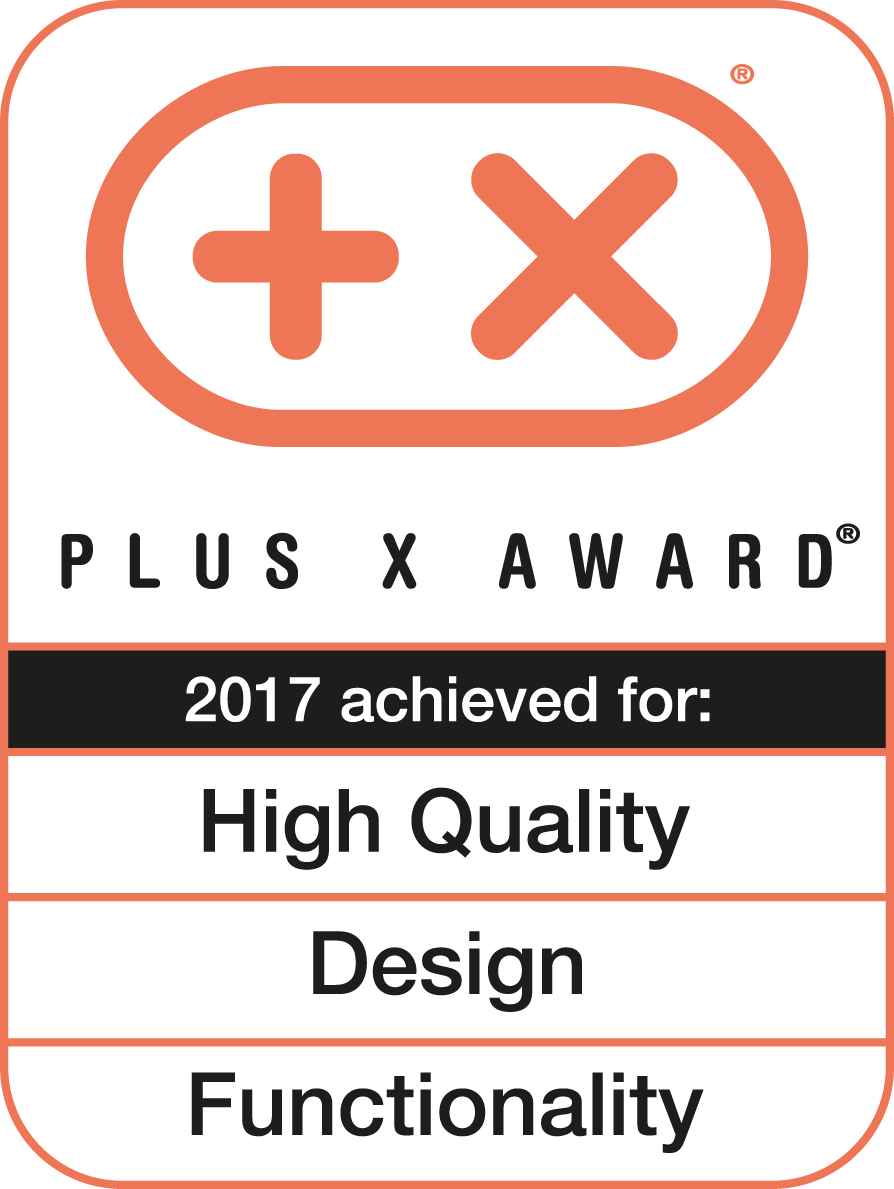 Plus X Award 2017 High Quality Design Funktionalitat