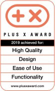 Plus X Award: High Quality/Design/Bedienkomfort/Funktionalität