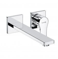 concealed two hole wall mounted basin mixer