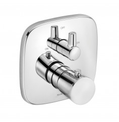 concealed thermostatic bath and shower mixer
