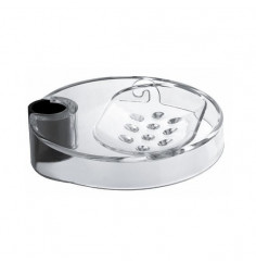 soap dish for sliding bars with Ø 18 mm pipe